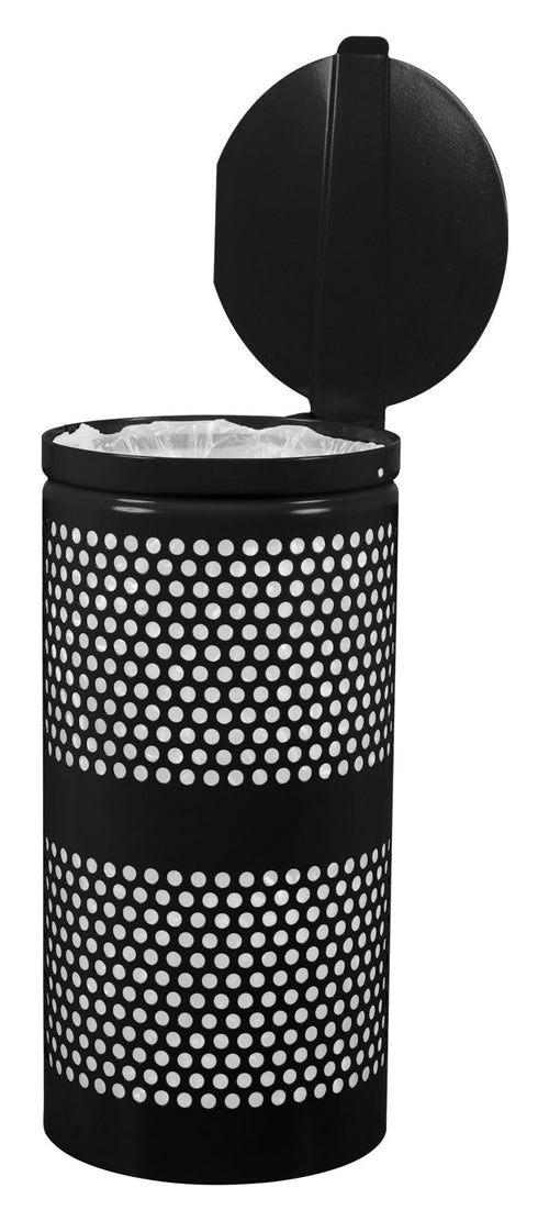 Landscape Series Perforated Waste Receptacle with Lid