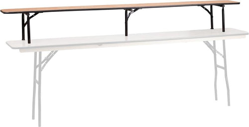 96'' x 12'' x 12'' Bar Top Riser with Black Legs [YT-WTFT796R-GG]