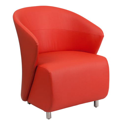 Red Leather Lounge Chair [ZB-6-GG]