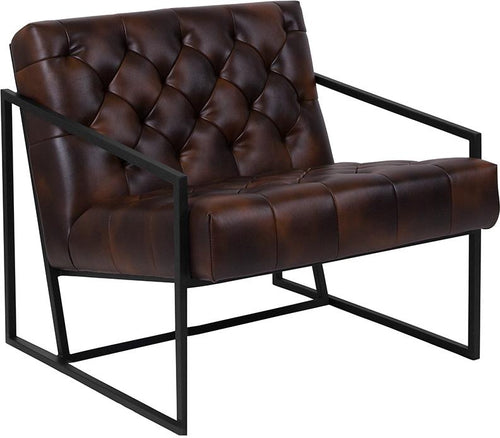 HERCULES Madison Series Bomber Jacket Leather Tufted Lounge Chair [ZB-8522-BJ-GG]