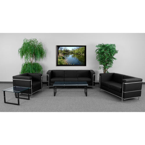 HERCULES Regal Series Reception Set in Black [ZB-REGAL-810-SET-BK-GG]