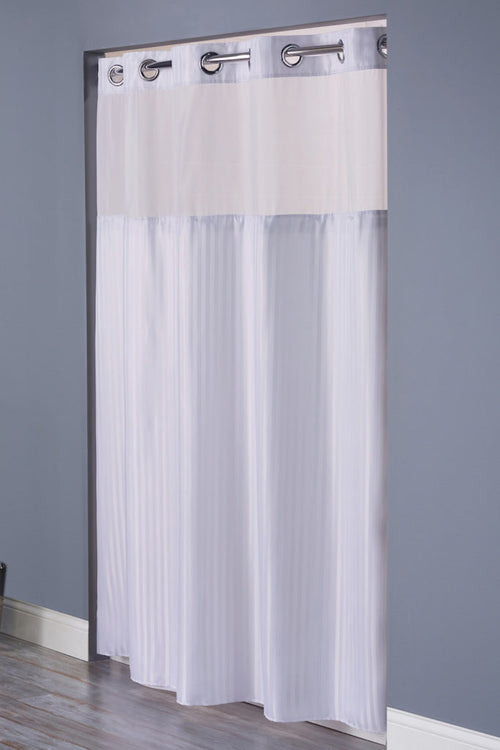 Hookless DOUBLE H Fabric Shower Curtain - 12 Per Case