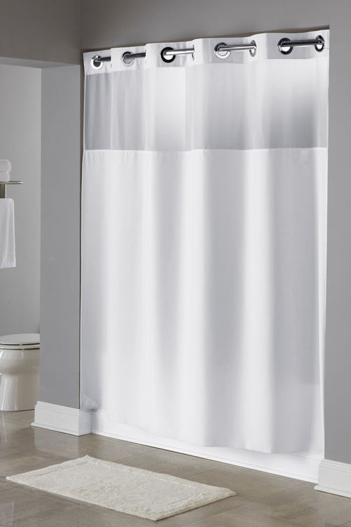Hookless Illusion Fabric Shower Curtains - Case of 12
