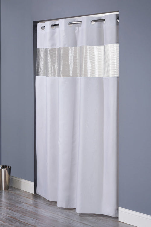 Hookless THE MAJOR Fabric Shower Curtain - Case of 12
