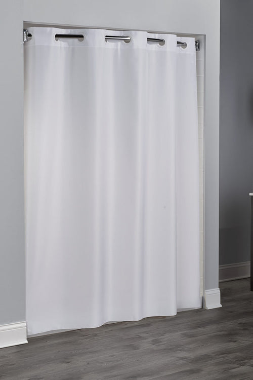 Hookless PLAIN WEAVE Fabric Shower Curtain - Case of 12