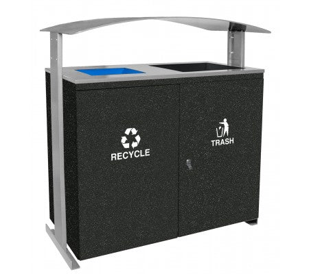 Ellipse Collection Large Capacity Two Stream Receptacle