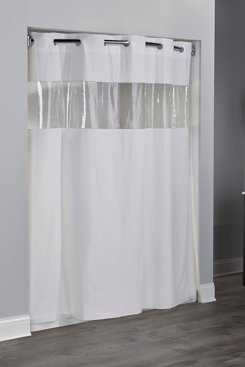 Hookless 8 GAUGE VINYL VISION Shower Curtain - Case of 12