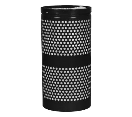 Landscape Series Perforated Trash Receptacle
