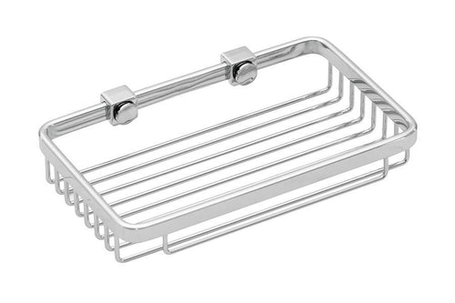"MASTER SERIES RECTANGULAR BASKET 8"" BRIGHT HAND POLISHED S/S (CHROME)"