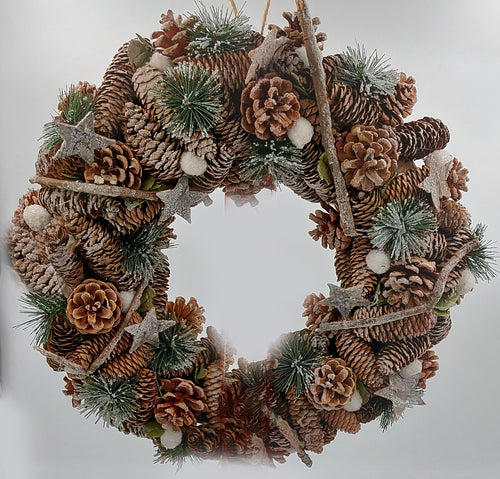 Large Christmas wreath unpersonalised style 1