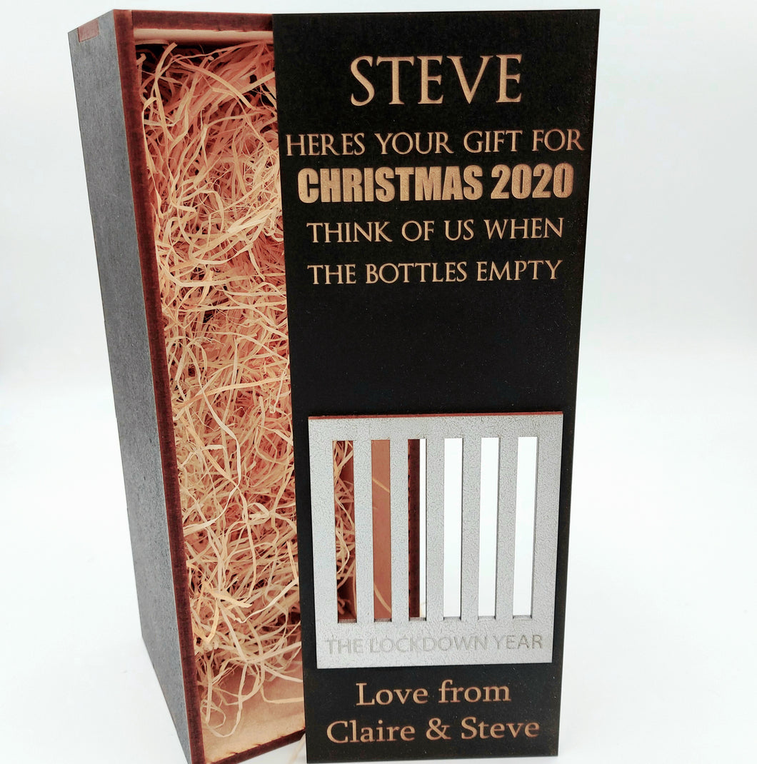 LOCKDOWN 2020 bottle gift box fit 70cl size - BOX ONLY