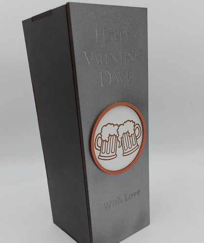 Beer design bottle gift box fit 70cl size - BOX ONLY