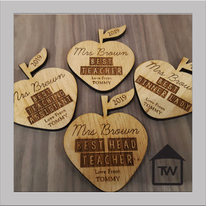 Teacher Apple Coasters
