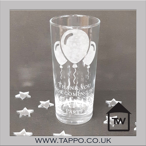 GOODY BAG personalised Party balloon Glasses x 5