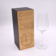 Large crystal Wine o' clock wine glass and clock gift box