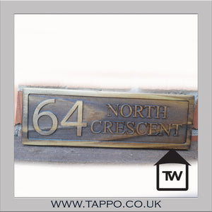 HOUSE NAME wooden plaque