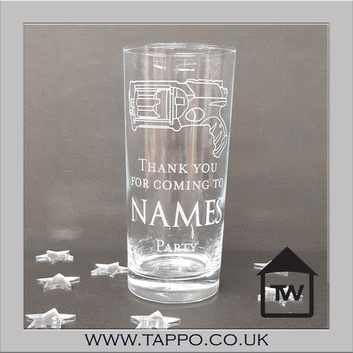 PARTY BAG personalised Party Gun Glasses x 5