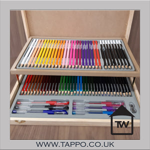 Personalised 75 piece stationary set with wooden engraved box