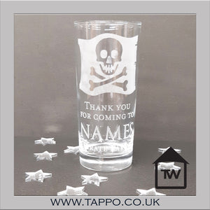 GOODY BAG personalised Party Pirate Glasses x 5