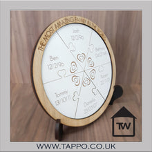 Circle Jigsaw Gift Personalised family signs plaque