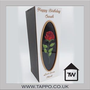 WOODEN Rose bottle gift box fit 70cl size - BOX  ONLY
