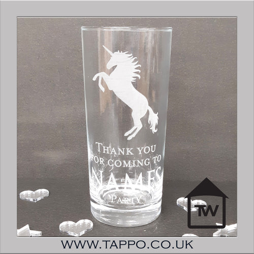 PARTY BAG personalised Party Unicorn Glasses x 5