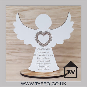Angels Walk Amongst Us Bereavement memorial Keepsake