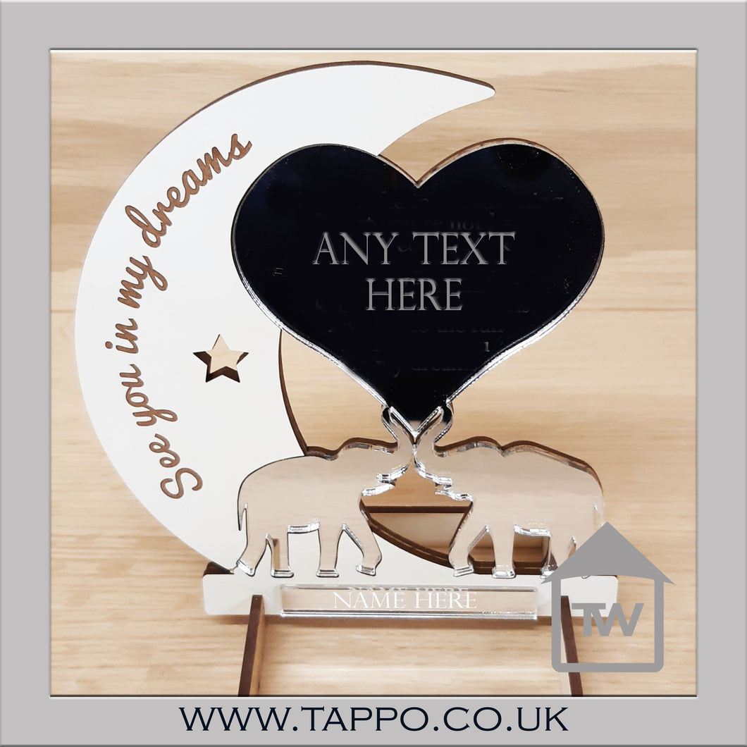 Any Text Elephant Design Keepsake