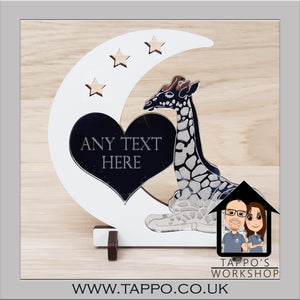 Any Text Giraffe Design Keepsake