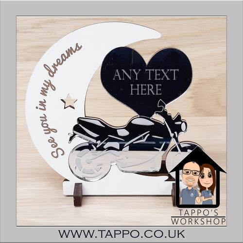 Any Text Motorbike Design Keepsake