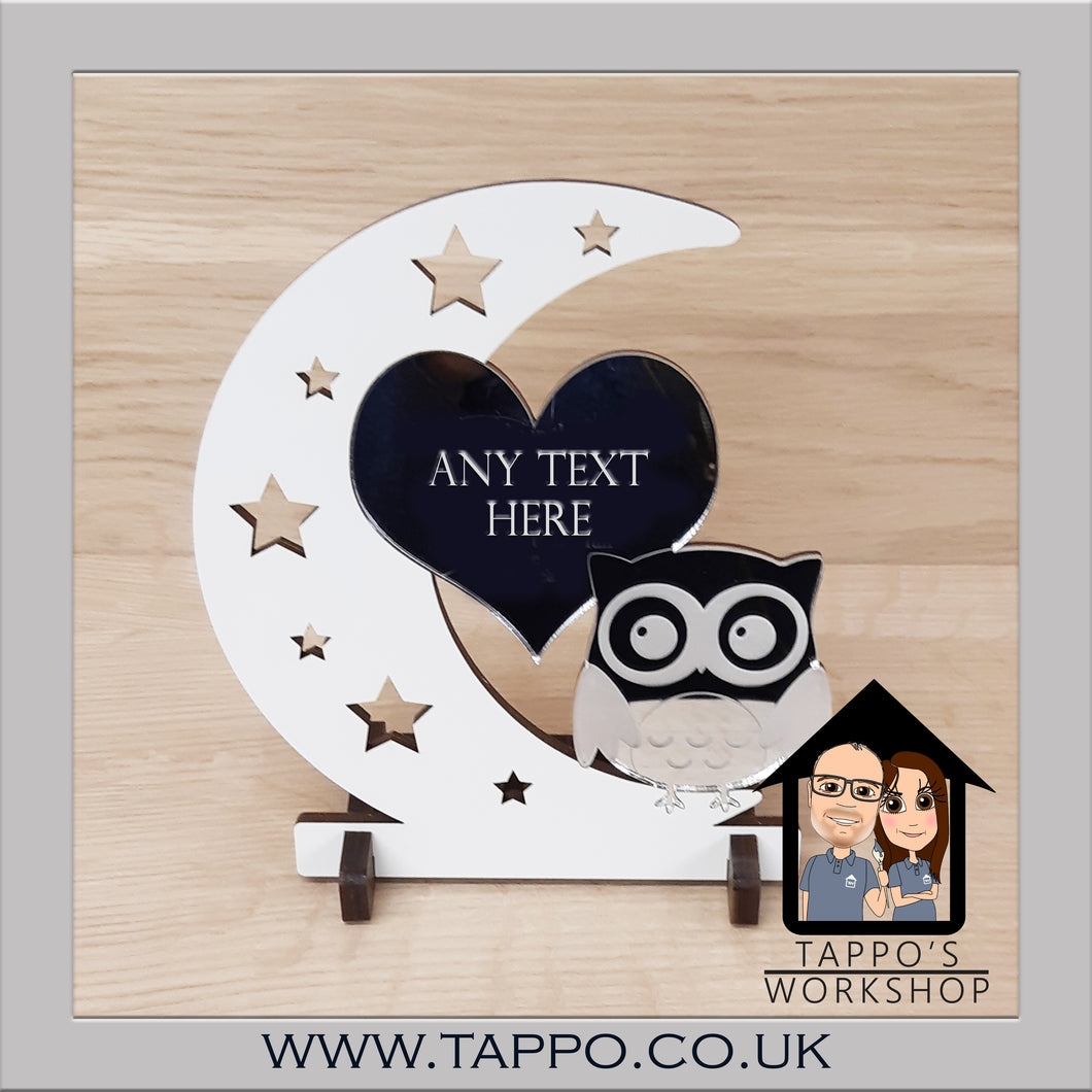 Any Text Owl Design Keepsake