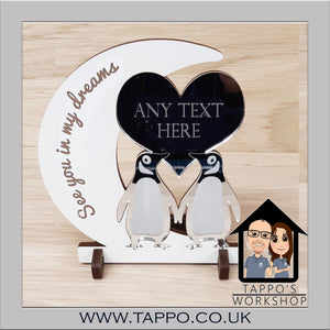 Any Text Penguin Design Keepsake