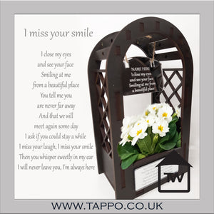 I miss your smile ARCH Beautiful Outdoor Planter miniature  keepsake