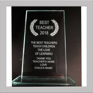 Teacher trophy
