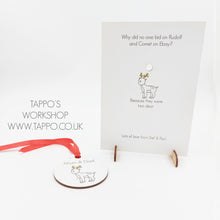 Joke Wooden Christmas Card with removable Hanging tree decoration