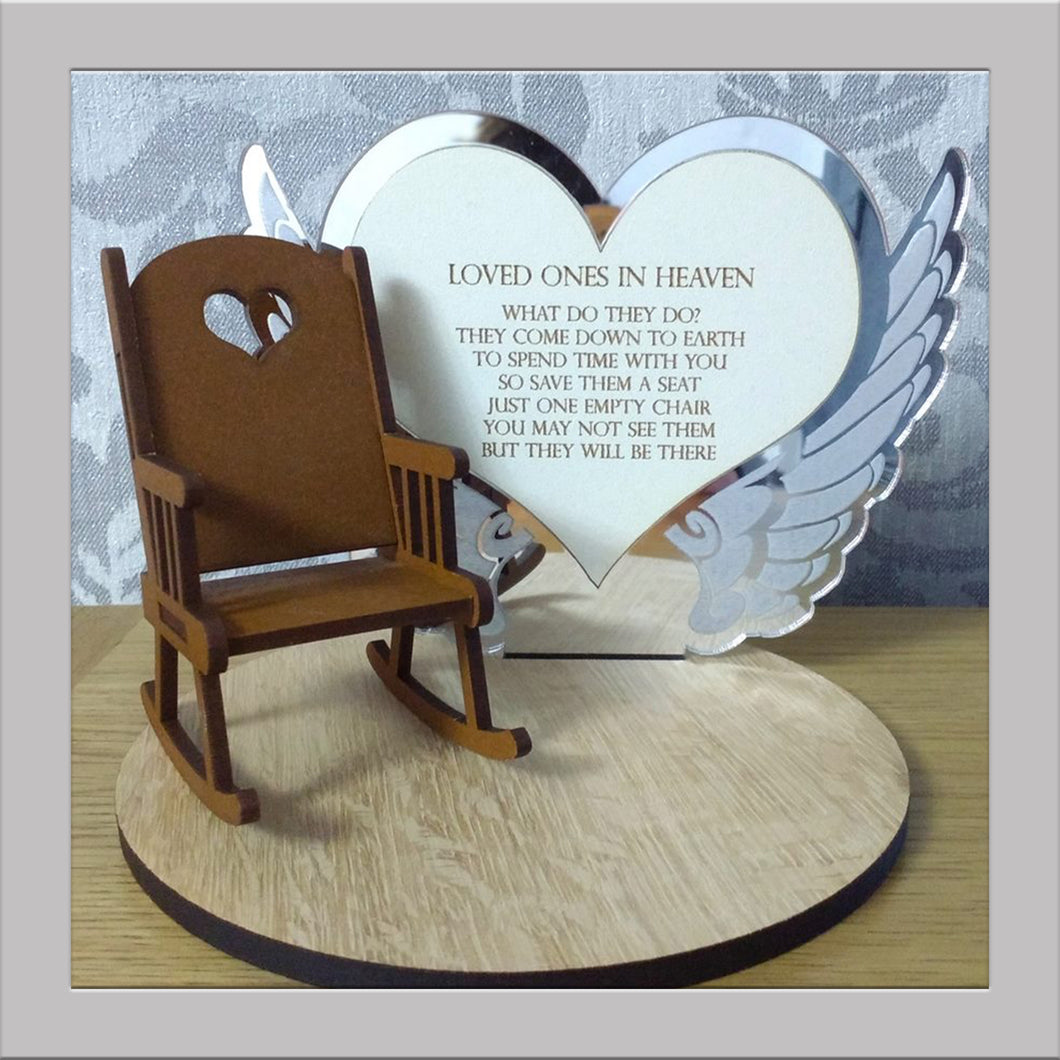 Loved Ones in heaven Rocking chair keepsake