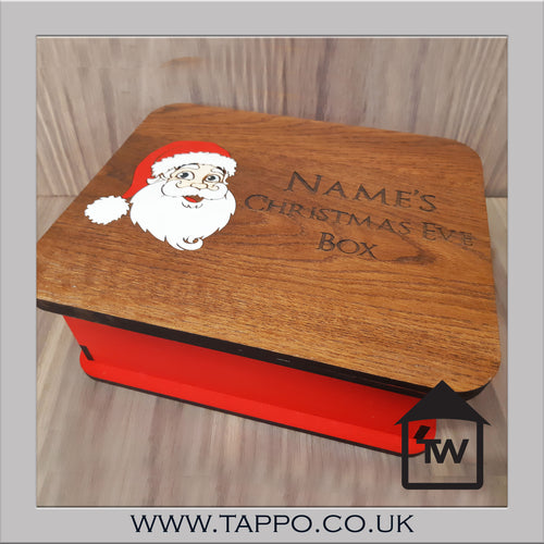 Personalised Christmas Eve Box Marquetry Traditional Style