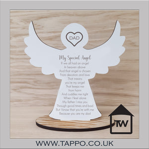 My Special Angel Bereavement memorial Keepsake