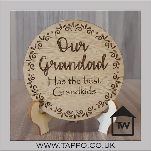 CLEARANCE Our Grandad has the Best Grandkids Coaster