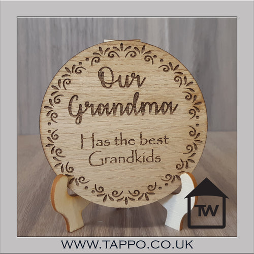 CLEARANCE Our Grandma has the Best Grandkids Coaster