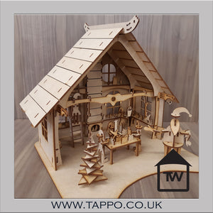 Santa's Grotto/workshop model Flat packed Unpainted