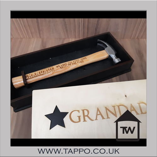 Personalised any name and text- HAMMER IN GIFT BOX