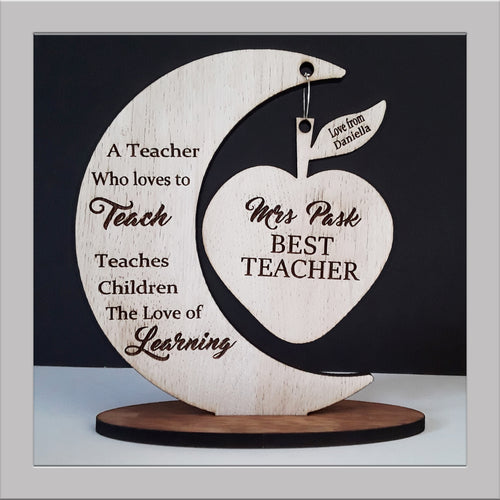 Hanging Teacher apple gift