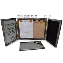 RPG Master screen with white board, magnets and dice tray