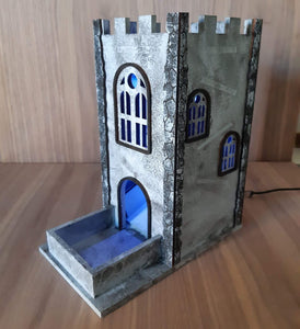 RPG dice rolling tower Lights optional