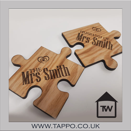 Wedding gift Jigsaw coasters