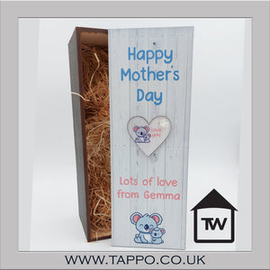 Any text Koala Keyring bottle gift box fit 70cl size - BOX & KEYRING ONLY