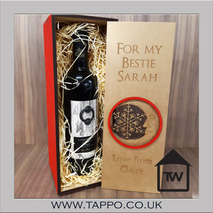 Red and Gold wine spirit gift box 70cl size - BOX ONLY