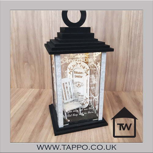 Lantern Loved ones in Heaven Keepsake memorial sympathy gift