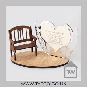 Loved Ones in heaven Bench keepsake